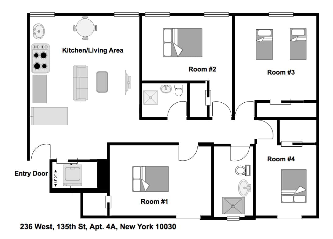 Apartment 4A Floorplan
