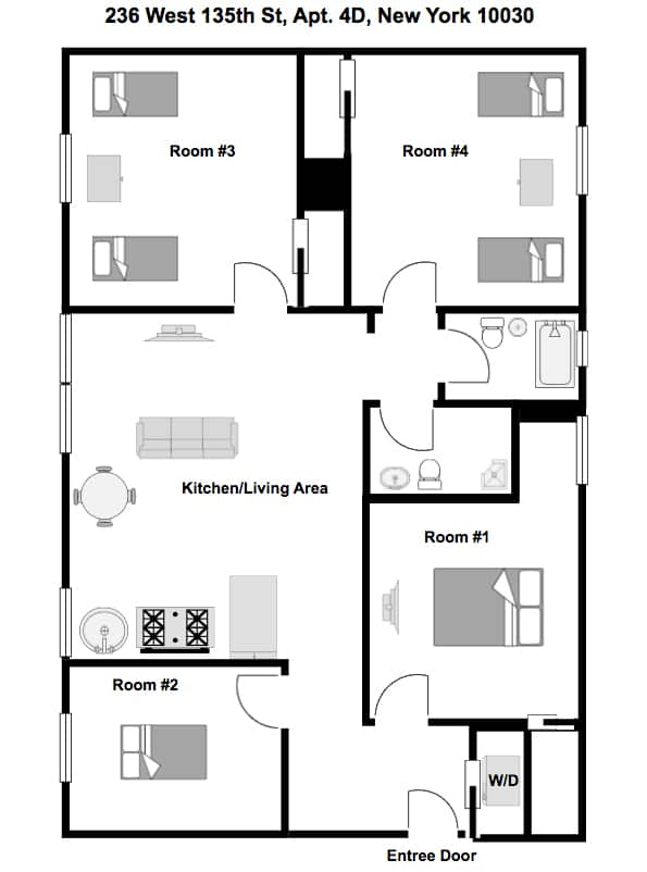 Apartment 4D floorplan